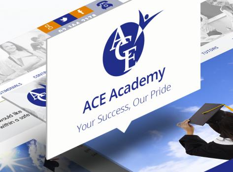 ACE Language Tutor Website Design by Glypt