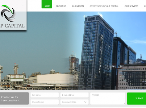 Corporate website design - GLPCapital