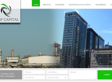 Corporate website design - GLPCapital