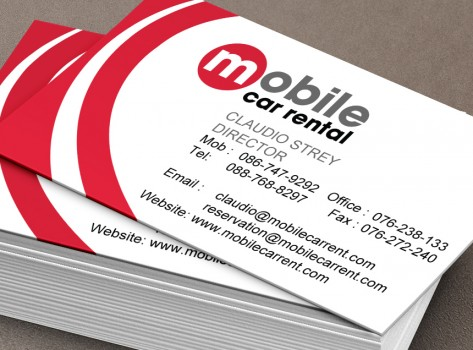 professional business card design by Glypt